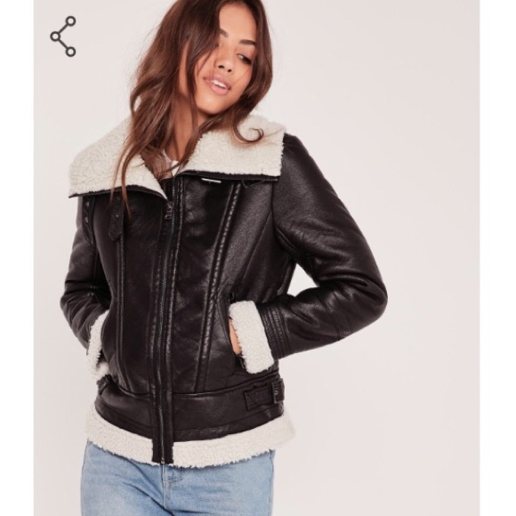 4ba6e990a Missguided faux leather jacket