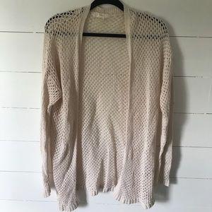 Forever 21 Knit Cream Cardigan