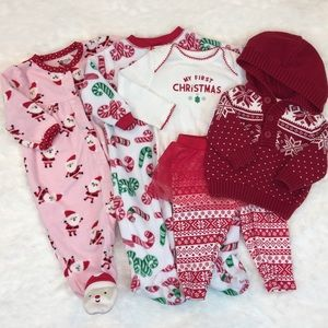 Other - Baby Girls First Christmas Clothing Lot 0-3 Months