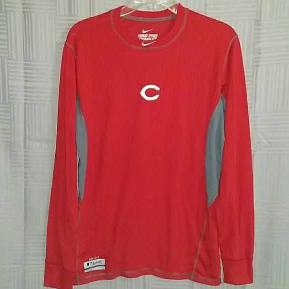 343d8bc23 Nike Pro Combat Men L Cincinnati Reds Fitted Shirt.  M 5a1472119818291328026a8b