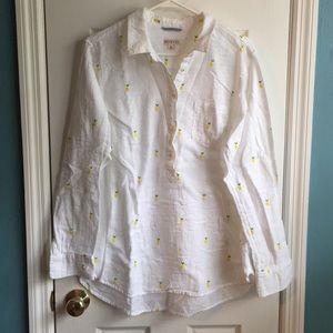 Long sleeve lightweight cotton pineapple shirt 🍍