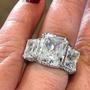 Jewelry - Judith Ripka huge three stone ring. Size 5.75