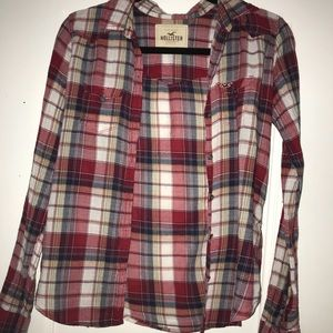 Thin plaid Hollister Flannel