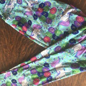 Vintage LLR birthday leggings, with unicorns OS