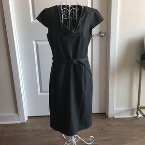 Calvin Klein grey/black work dress