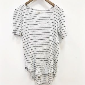 Madewell   striped boat neck tee