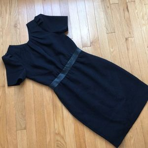 H&M Dark Navy Cut Out Work Dress