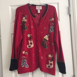 Sweaters - Christmas Stocking Tacky Sweater
