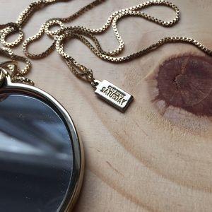 Kate Spade Saturday mirror necklace
