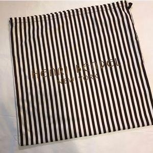 Henri Bendel brown and white striped dust bag