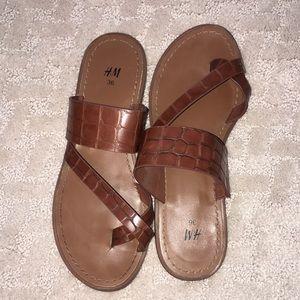 H&M Faux Croc Sandals