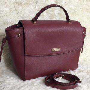 🌸OFFERS?🌸Kate Spade All Leather Blood Red Satchl
