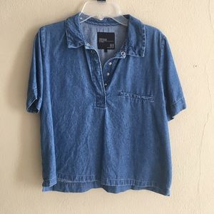 Zara Denim top