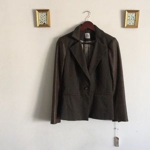 Bespoke Faux Leather Blazer