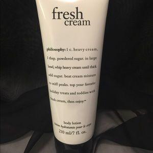 Philosophy Fresh Cream Hand Lotion. 7oz. tube