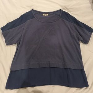 Madewell dusty blue T-shirt size LARGE