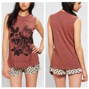 """UO Truly Madly Deeply """"La Rosa"""" Muscle Tank"""