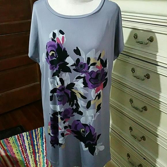 Elle Dresses & Skirts - Beaded T shirt Dress