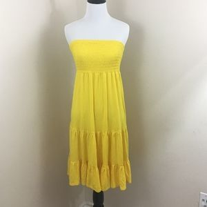 NEW Lane Bryant Yellow Strapless Dress Size: 14/16