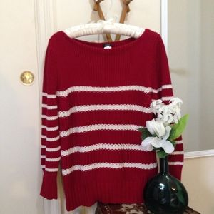 J. CREW Boat Neck Heavy Knit 3/4 Length Sweater