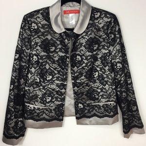 🆕 Anne Klein>silk and lace blazer NWOT