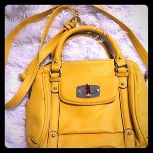 "Merona yellow Handbag/ crossbody 9""X9 1/2"""
