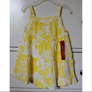 Joe Fresh Yellow/White Floral Print Dress