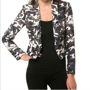 NEW camouflage multi color blazer jacket small