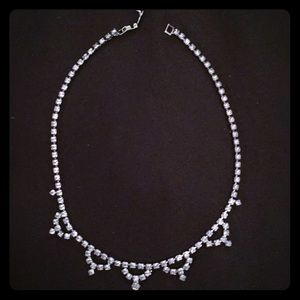 Vintage diamond chocker necklace