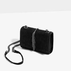 Zara suede crossbody bag