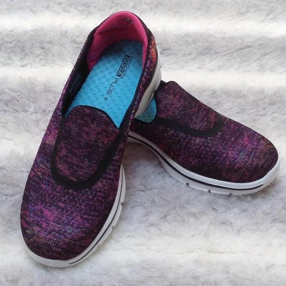 Pasado estar impresionado Durante ~  Skechers Shoes   Skechers Go Walk 3 Goga Plus Glisten Black Multi   Poshmark