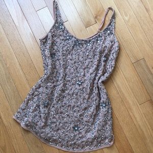 DOROTHY PERKINS Sparkly Sequence Blush Tank Top