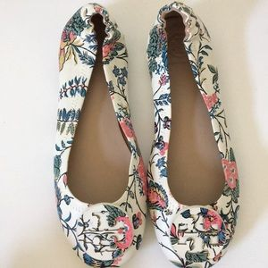 TORY BURCH  floral flats