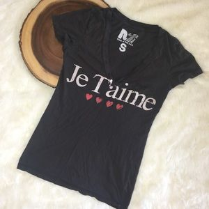 Je t'aime Rebel Yell Deep V Graphic Tee