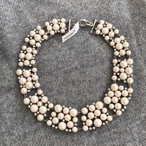 "J Crew Pearl Collar Necklace 18"""