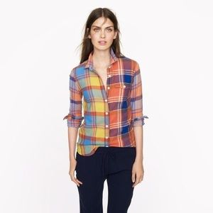 🆕LISTING {J. Crew} Boy Shirt in Orange Plaid