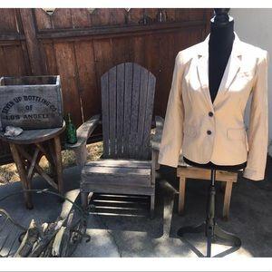 J. Crew Womens Tan Schoolboy Jacket Blazer-Size 6