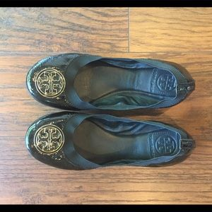 Tory Burch patent leather ballerina flats