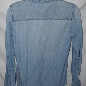 J. Crew long sleeve, chambray collar shirt, size 4