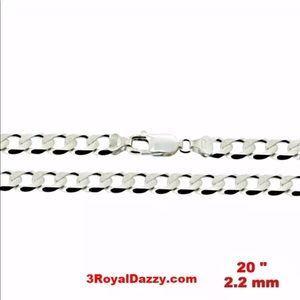"Precious Italian Sterling  925 Chain 2.2 MM 20 """