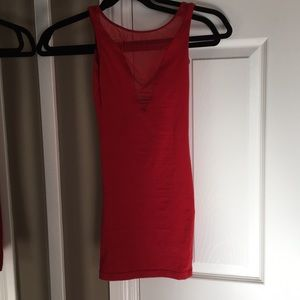 Body con red dress