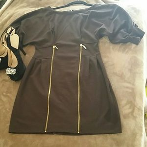 Forever 21 dress gold tone zippers