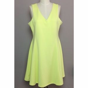 NWT ASOS Neon Fit n' Flare Dress