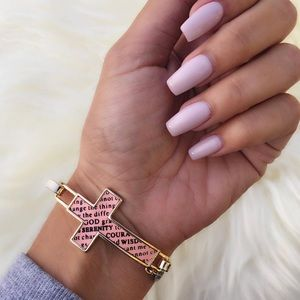 Pink Serenity Cross Bracelet