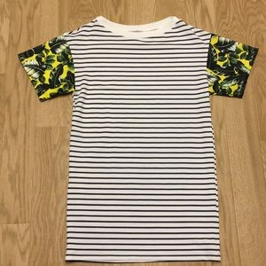 Relaxed Sporty Mixed Print Tshirt Dress