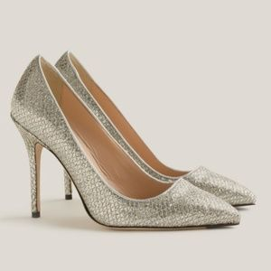J. Crew Roxie Glitter heels