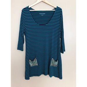 Soft Surroundings Long Striped Shirt/Dress