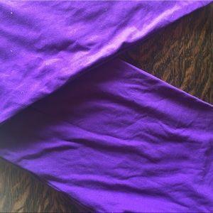 Solid purple LLR os leggings