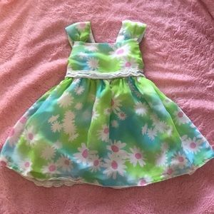 Flowing, Floral Baby Girl Dress