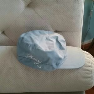 Juicy Couture pale blue mailboy hat